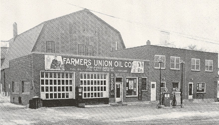 old photo of shop exterior